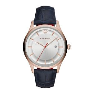 Armani阿玛尼新款男士手表 简约商务手表男 皮带石英表AR11131