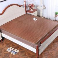 双人竹席凉席 折叠式双面碳化竹凉席空调席子夏季1.8m1.5米床家用 凉爽肤