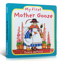 (首���300�p100)英文原版�L本 My First Mother Goose 我的�Z����童�{�⒚扇腴T�板�� 2-3�q
