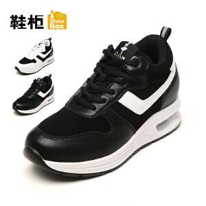 达芙妮集团 鞋柜秋拼色气垫运动休闲女单鞋