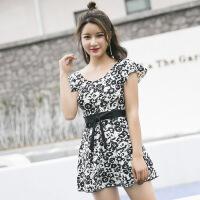 游泳衣女连体保守显瘦遮肚性感韩国新款泡温泉裙式女士游泳装女