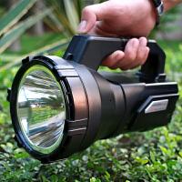 户外家用巡逻手电筒 LED强光探照灯远程可充电手提灯远射400米