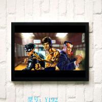 电影海报青蜂侠李小龙装饰画酒吧创意个性装饰画有框画KTV挂画
