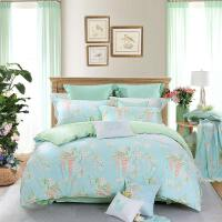 家居家纺丽怡居家棉四件套床单1.8米床被罩单双人床上用品夏沫之晨