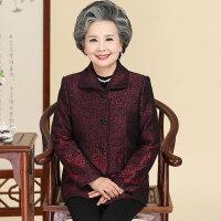 中老年女装妈妈装秋装长袖外套607080岁老年人套装奶奶装翻领上衣