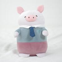 蓝白玩偶毛绒玩具小猪熊公仔女孩布偶娃娃布偶送女生生日礼物 23厘米