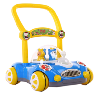 婴儿学步车手推车儿童带灯光可调速音乐助步玩具