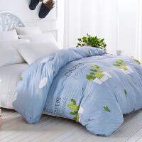 柔水洗棉被套单件 磨毛被罩单件简约双人被子单人1.5mx2米x2.3m
