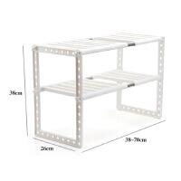 下水槽架可伸缩置物架隔层架子厨房水槽下收纳架橱柜储物架带隔板
