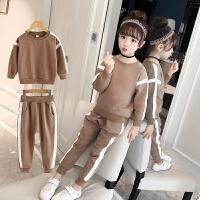 童装女童运动套装新款儿童春秋装小女孩洋气卫衣运动服两件