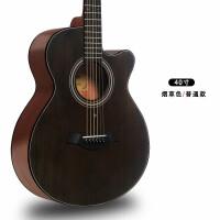 ?电箱单板民谣吉他41寸40木吉他初学者学生男女新手吉它乐器?