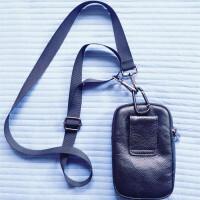 男士手机腰包男穿皮带多功能包4-6寸竖款手机包男士腰包实用 +肩带