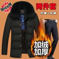 中老年人棉衣40男50岁老人60爸爸冬装加绒加厚款中年冬季外套