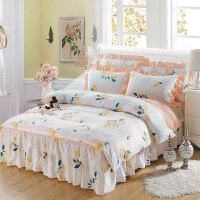 纯棉床裙四件套裙式蕾丝1.8m床全棉公主风床套单人双人床罩1.5米