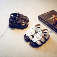 夏季女童凉鞋包头小童宝宝罗马鞋男童沙滩儿童鞋子