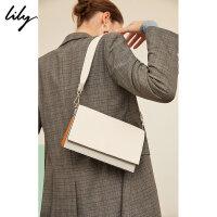 【5/26-6/1 一口价:229元】 Lily春女装商务拼色简约冷淡风琴包单肩包1191BZ431
