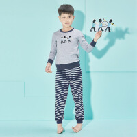 彩桥童装男童运动套装2018秋季新款中大童儿童秋季长袖两件套男