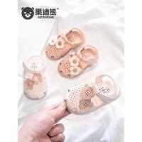 0-1-3岁宝宝凉鞋女童婴儿夏季小童公主软底鞋子包头学步鞋