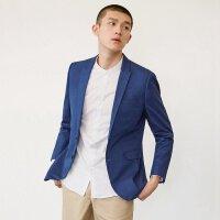 【2件2.5到手价:55】MECITY男装韩版修身口袋巾透气亚麻休闲西服外套