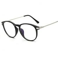 2018新品韩版手机电脑眼镜女护目平光镜男圆框无度数蓝光防护眼平镜潮