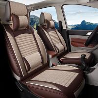新老款本田赛艾力绅汽车座垫GL87七座四季通用亚麻坐垫套