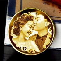 老公生日礼物送男友朋友创意特别浪漫礼品节庆用品定制纪 (专属雕刻纪念币)双面文字 顺