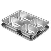 儿童便当盒学生饭盒分格密封便携餐盒带盖304不锈钢保温饭盒