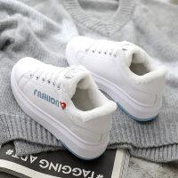 女鞋子女冬季新款冬季加�q保暖坡跟板鞋�W生休�e百搭�n版棉鞋