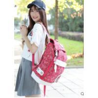 休闲电脑包双肩包女士背包韩版潮学院风中学生书包