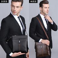 新款男真皮斜挎包男士背包头层牛皮竖款斜跨户外休闲商务包包
