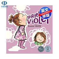 英文原版 Shrieking Violet 低幼儿童英语启蒙绘本故事书读物