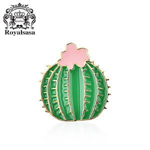 皇家莎莎胸针女植物胸花别针韩国仿水晶笑脸仙人掌仙人球开衫配饰品