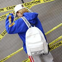 书包女韩版原宿高中学生字母双肩包百搭个性休闲旅行背包