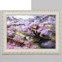 实木相框创意油画画框装裱框挂墙500 1000片简约拼图框十字绣