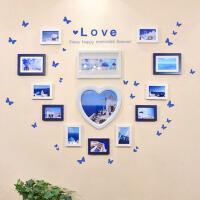 心形礼物画框 婚纱照7寸挂墙实木质相框相架