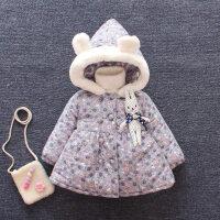 女童冬装加绒棉衣小童加厚保暖棉袄2婴儿外套秋冬1-3岁女宝宝