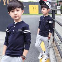 男童卫衣春秋时尚儿童上衣套头中大童男童装长袖T恤
