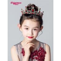 儿童红色发饰小孩发饰儿童皇冠头饰公主女童王冠发箍