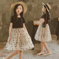 韩版童装女童夏季连衣裙中大童短袖公主裙小女孩纱裙儿童夏天裙子
