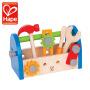 Hape男孩仿真维修儿童木制工具箱宝宝修理套装过家家玩具3岁