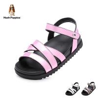 暇步士Hush Puppies童鞋2018新款儿童凉鞋时尚亮色女童休闲鞋夏季女生凉鞋(9-12岁可选) DP9304