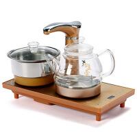 电热烧水壶三合一茶炉茶壶抽水茶道家用 电磁炉玻璃茶具全自动上水