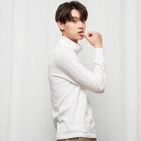【1件3折到手价:59.7】美特斯邦威毛衣男冬季新款舒适纯色简约青少年高领套头毛衣男