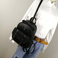 双肩包女韩版潮时尚百搭小清新背包女包包新款个性简约旅行包
