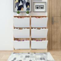 门口超薄翻斗鞋柜简约现代窄鞋柜超薄13cm家用门后组合玄关柜简易