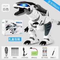 儿童遥控恐龙玩具电动智能战龙霸王龙说话机器人玩具男孩女*物le2