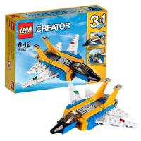 乐高LEGO Creator系列滑翔机31042小颗粒积木玩具三种拼法