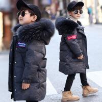 儿童羽绒服男童中长款女童大毛领2018新款韩版洋气中大童加厚外套