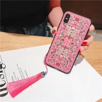 苹果iphonexsmax中国风vivox9s21小米oppor15r11s华为荣耀8x7xm 粉底 中国风花纹流苏(i