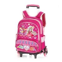 韩版可拆卸儿童拉杆书包女小学生女双肩包3-6年级2轮拉杆箱书包男